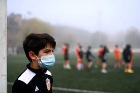 Children Has Usual Used Mask in Sports Agenda  in United States